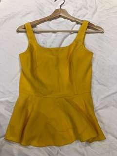 Colours Yellow Peplum Top