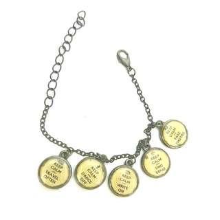 Keep Calm Charm Bracelet #MFEB20
