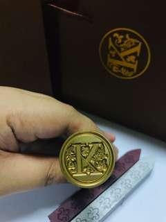 Alphabet Sealing Wax Stamp Set (Letter K) #TRU50 #MFEB20