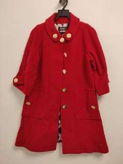 Red gold button Coat