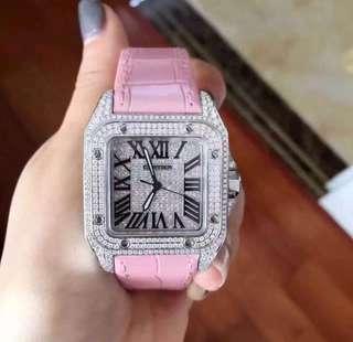 卡地亞手錶 全新全套 女裝滿鑽