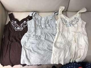 Hollister HCO, A&F Abercrombie & Fitch AF, PINK, Guess, Freepeople吊帶裙AF短袖衫背心裙短褲dress top shirt