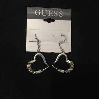 Guess earrings / anting (heart shaped)