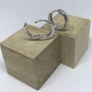 925純銀韓國🇰🇷型男圈耳環/ K-pop 925 Silver Hoop Earrings