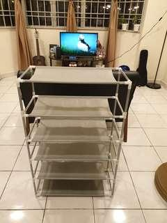 6-Tiered Portable Shoe Rack
