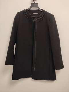 Esprit black coat wirh jewel collar