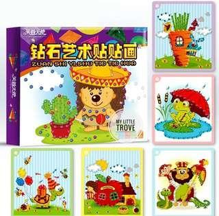 Crystal sticker art kit for kids