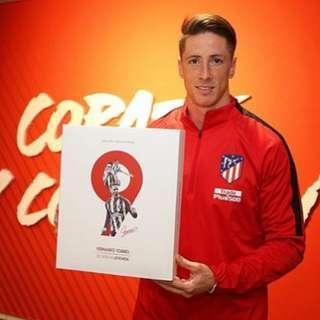 緊急預訂!2日團!Nike 全新有牌 17/18 馬德里體育會 馬體會 Atletico Madrid 費蘭度·托利斯 Fernando Torres 簽名球衣盒裝 (球會官方產品)