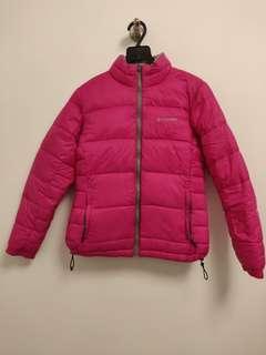 Columbia Reversible Pink and Silvee Down Jacket