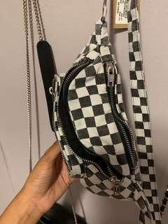 brandy melville checkered bum bag