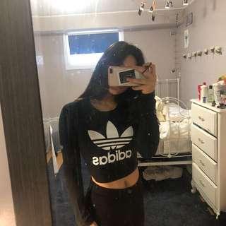 Adidas crop long sleeve