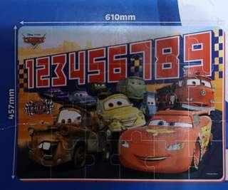Heat Transferred Printed Puzzle (Cars)