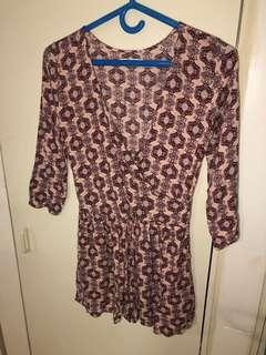 Hollister printed romper size small