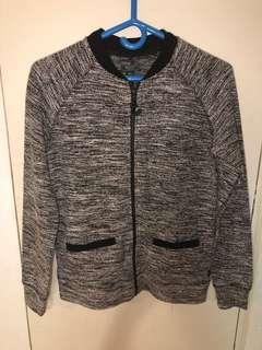 Roots salt and pepper zip up sweater size small