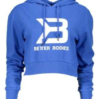 Better Bodies Cropped Blue Hoodie