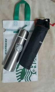 Flask Hot or Cold with Starbuck Bag
