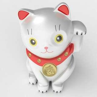 60cm High-quality deco 3d printing hand painted custom model Maneki Neko cat fengshui made with photo realistic detail