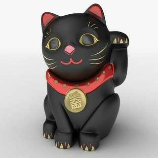 Custom 3d print fengshui cat for home deco 60cm life-size huge custom deco piece