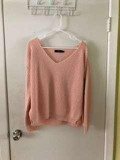 Missguided Pink/Peach Sweater