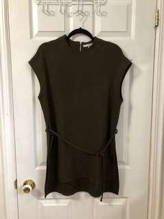 Oak and Fort Forest Dark Green Dress One Size