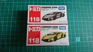 Tomica No.118 Lamborghini Veneno 一對