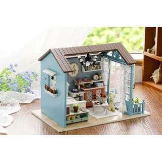 Pajangan Miniatur Rumah Boneka 3D DIY 1:24 Mix Color