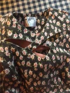 Korean design flower dress