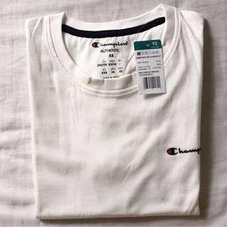 Authentic Champion White Small Scripted Shirt