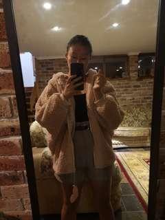 (NEW) Light brown BUNNY hoodie