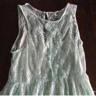 Forever 21 light-teal Lace dress