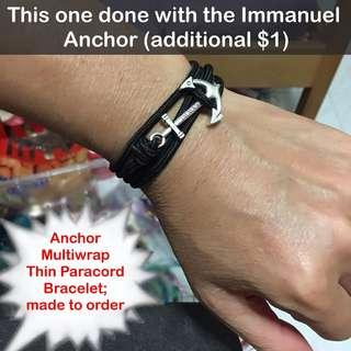 🚚 Anchor multiwrap thin paracord bracelet (thin (2.5-3mm); wrist size customisation) [gifts handmade; uncle anthony] FOR MORE PICTURES & DETAILS, GO HERE: 👉 http://carousell.com/p/108612508