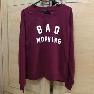 SWEATER BERSHKA BAD MORNING