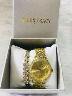 Ellen Tracy Bracelet and Watch Set