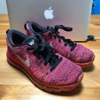 Nike flyknit max running shoes 粉紅編織款