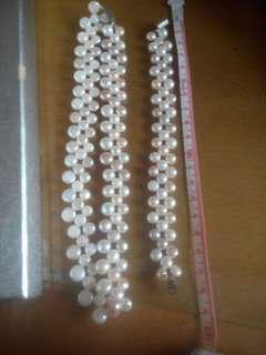 🚚 精美的珍珠項鍊和手鍊