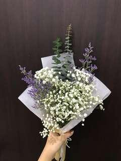 🚚 Baby Breath Minimalist Bouquet