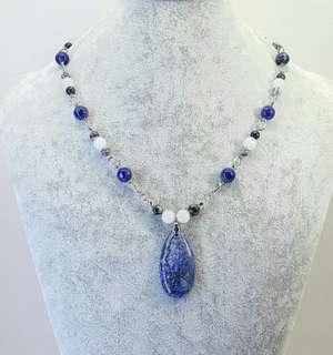Zandra Blue Beaded Necklace