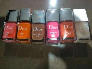 6 brand new dior nail polishes