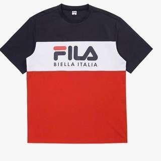 🚚 fila tri colour shirt authentic