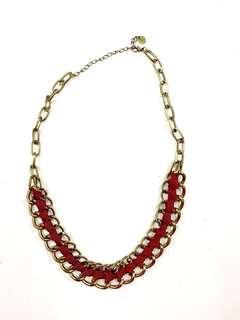 Ruby ribbon chain