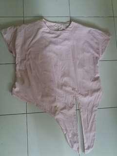 Beatrice pink knot top