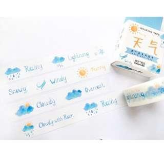 🚚 [PO] weather washi tape