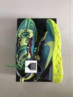 US8.5 - UNDERCOVER x Nike React Element 87 Lakeside Volt