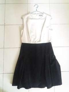 Dress black white