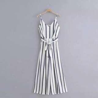 🚚 Striped Slit Cami Jumpsuit