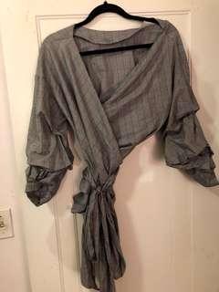 Zara wrap shirt