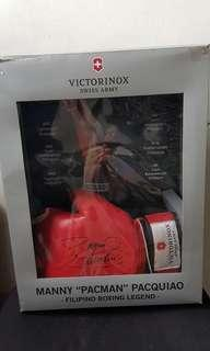 Pacquiao signed gloves Victorinox limited edition