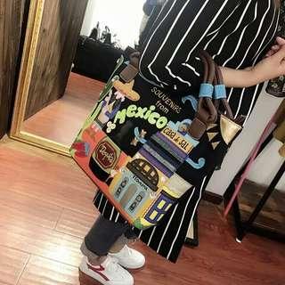 韓版創意刺繡手提肩包 有需要哪款請PO款示給我 賴lucky2200(小培) FB:南部雜貨舖
