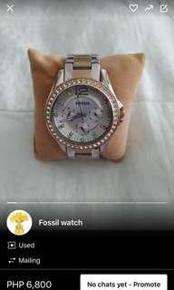 Rush!!! Auth fossil watch like new