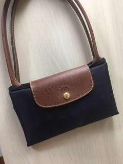 🚚 BN Longchamp Le Pliage Bag Purple with long handle
